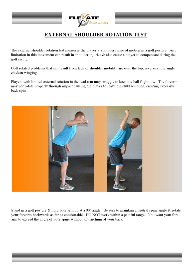 external shoulder rotation test