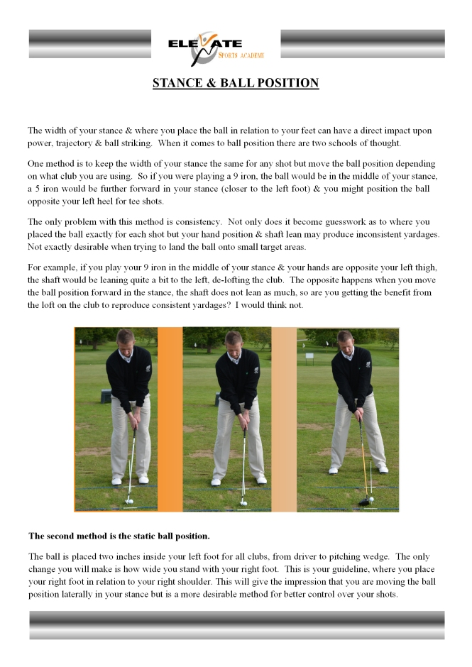 stance & ball position